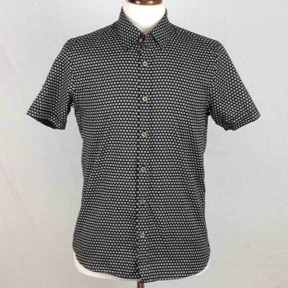 Ted Baker Other - Ted Baker Print Short Sleeve Button Down Shirt